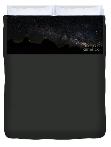 Trona Pinnacles Milky Way Duvet Cover