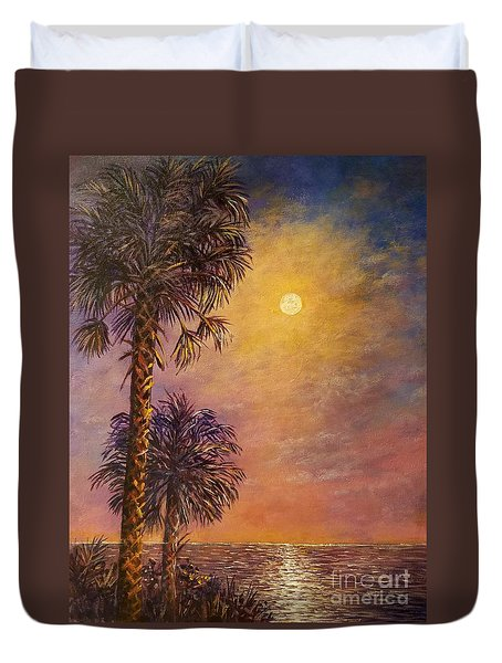 Tropical Moon Duvet Cover