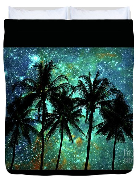 Tropical Night Duvet Cover by Delphimages Photo Creations