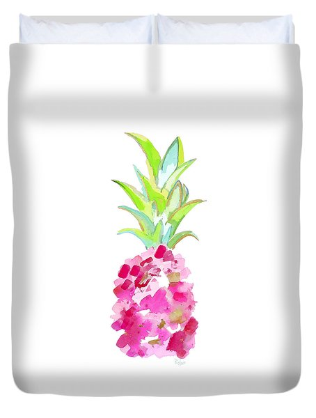 Tropical Pink And Gold Duvet Cover