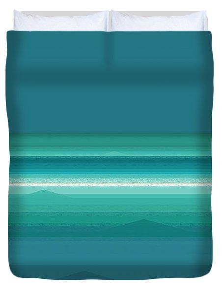Tropical Sea Moonrise Duvet Cover