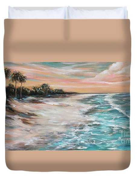 Tropical Shore Duvet Cover
