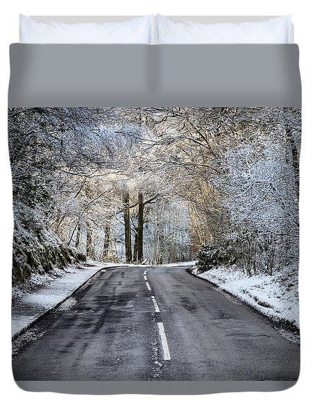 Trossachs Scenery In Scotland Duvet Cover