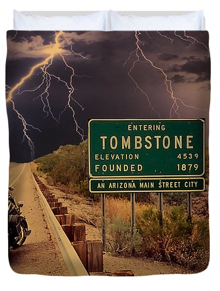 Trouble In Tombstone Duvet Cover