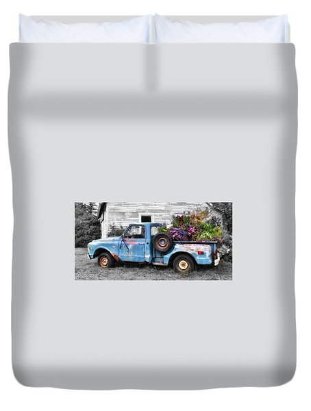Truckbed Bouquet Duvet Cover