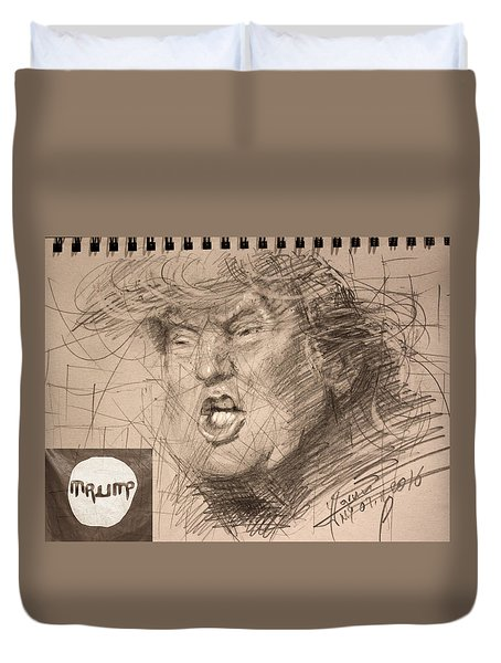 Trump Duvet Cover by Ylli Haruni