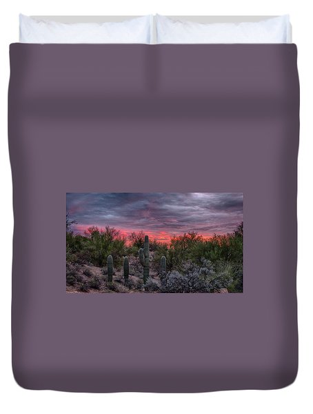 Tucson Sunset Duvet Cover