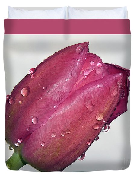 Duvet Cover featuring the photograph Tulip by Elvira Ladocki