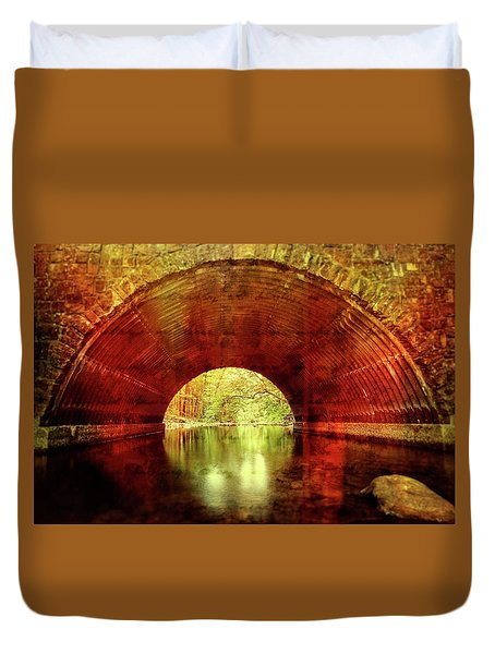 Duvet Cover featuring the photograph Tunnel Vision by Alan Raasch