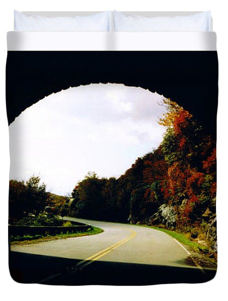 Tunnel Vision Duvet Cover by Seth Weaver