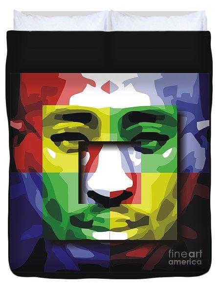 Tupac 4x Duvet Cover