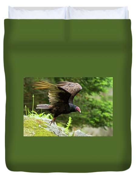 Duvet Cover featuring the photograph Turkey Vulture by Mircea Costina Photography