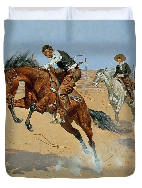 Turn Him Loose Duvet Cover by Frederic Remington