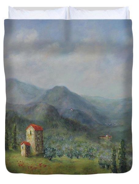 Tuscany Italy Olive Groves Duvet Cover