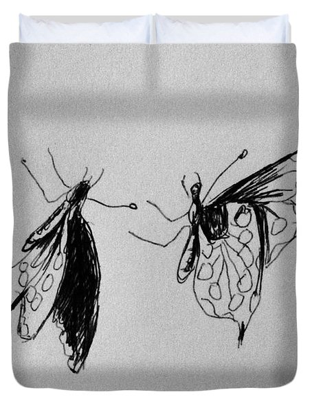Two Butterfly Duvet Cover