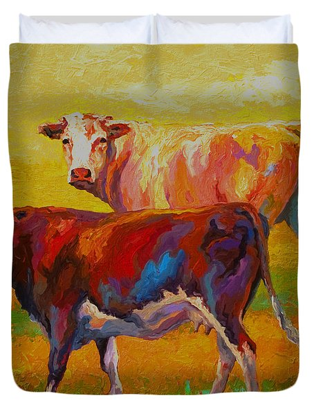 Two Cows Duvet Cover