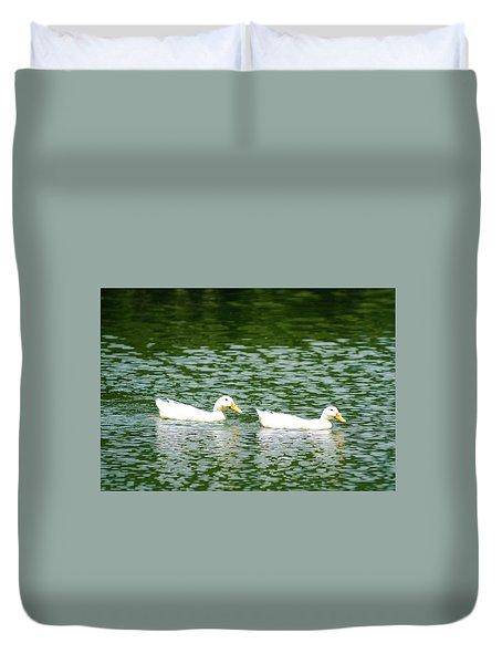 Two Ducks Duvet Cover
