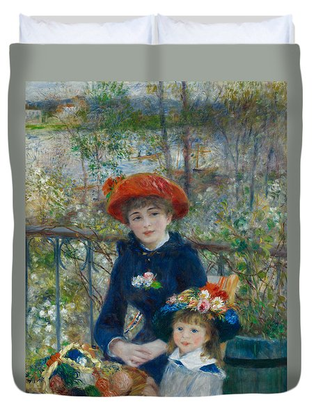 Two Sisters On The Terrace Duvet Cover