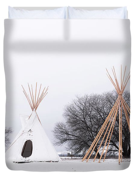 Two Tipis Duvet Cover