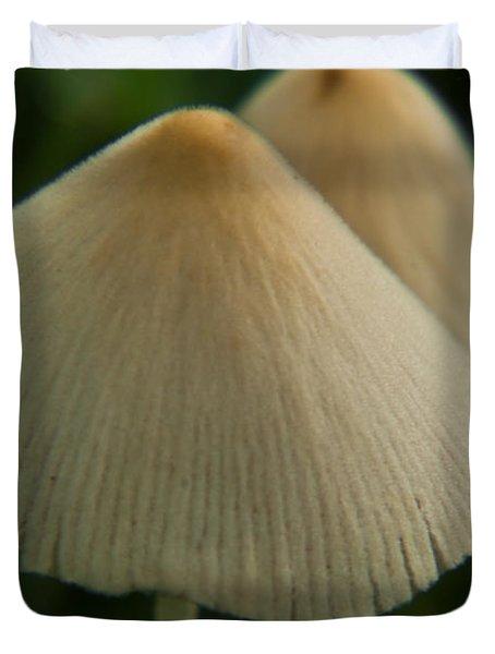 Two White Mushrooms Duvet Cover