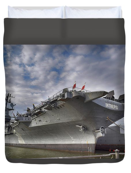 The U S S Intrepid  Duvet Cover