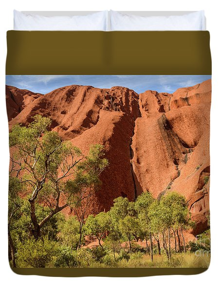 Duvet Cover featuring the photograph Uluru 07 by Werner Padarin