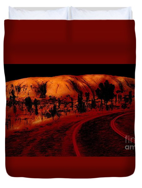 Uluru Sunrise Duvet Cover
