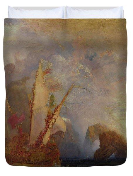 Ulysses Deriding Polyphemus - Homer's Odyssey Duvet Cover