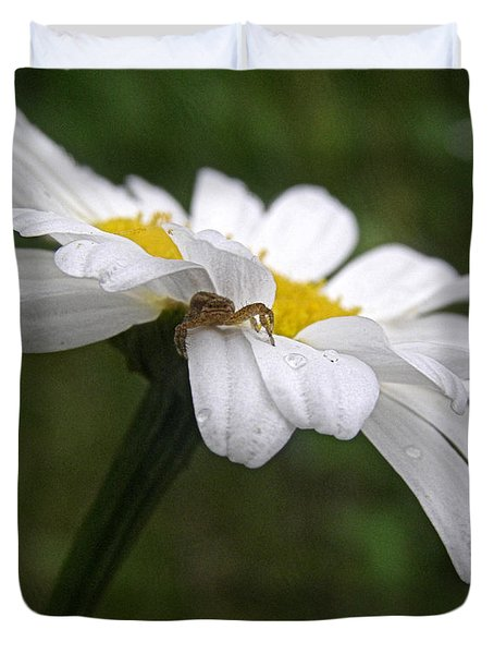 Duvet Cover featuring the photograph Umbrella For A Spider by Angie Rea