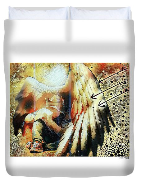 Under His Wings Duvet Cover