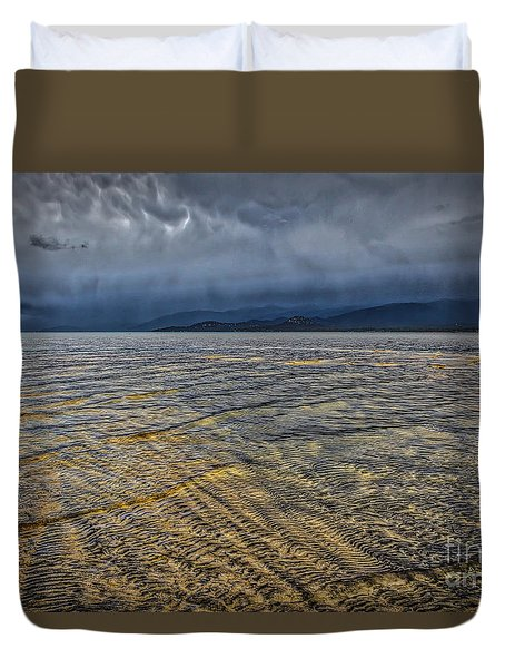 Duvet Cover featuring the photograph Undercurrents by Mitch Shindelbower