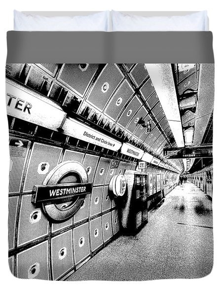 Underground London Art Duvet Cover by David Pyatt