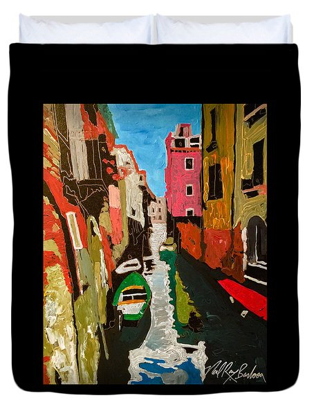 Unfinished Venice Italy  Duvet Cover