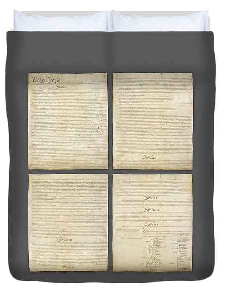 United States Constitution, Usa Duvet Cover
