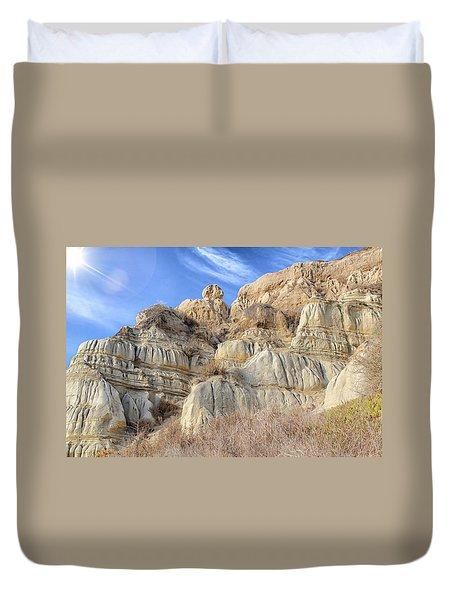 Unstable Cliffs Duvet Cover