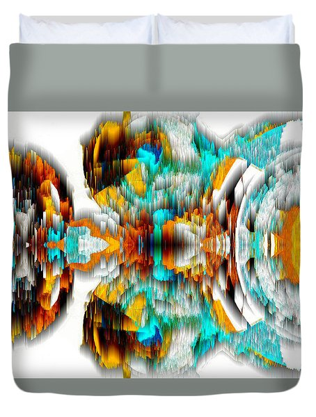 Duvet Cover featuring the digital art Untitled Series 992.042212 -c by Kris Haas