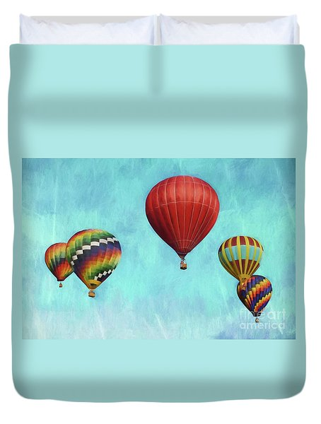 Duvet Cover featuring the photograph Up Up And Away 2 by Benanne Stiens