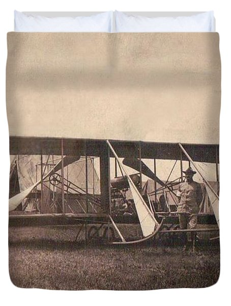 Us Army Wright Model B-flyer 1912 Duvet Cover