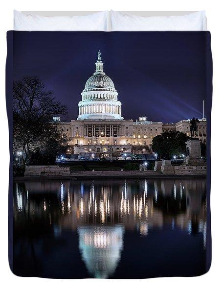Us Capital Building Duvet Cover
