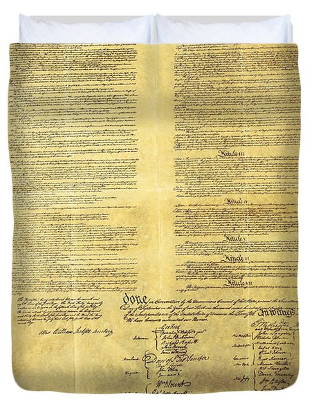 U.s Constitution Duvet Cover