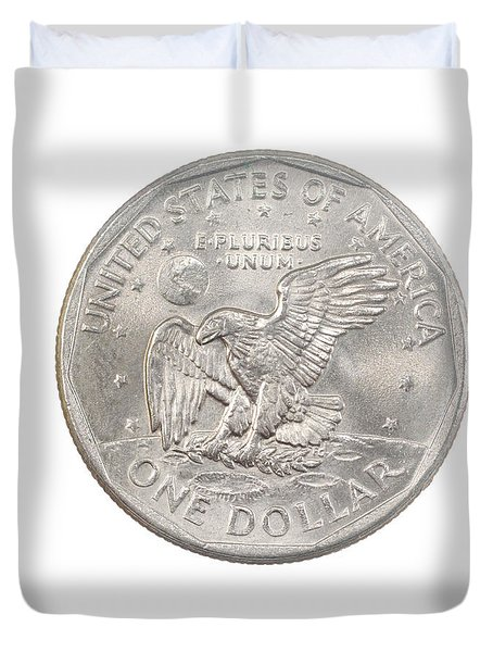 Us One Dollar Coin  Duvet Cover