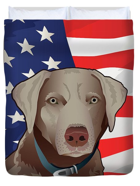 Usa Silver Lab Duvet Cover
