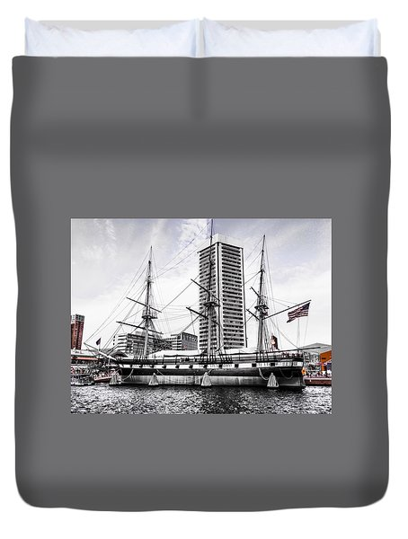 U.s.s. Constellation Duvet Cover