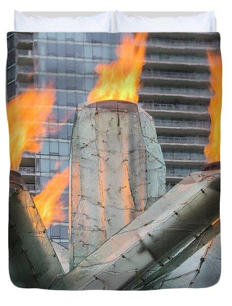 Vancouver Olympic Cauldron Duvet Cover