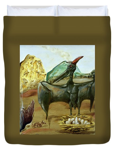 Duvet Cover featuring the painting Vega by Ryan Demaree