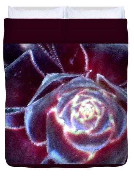 Velvet Rosette Duvet Cover