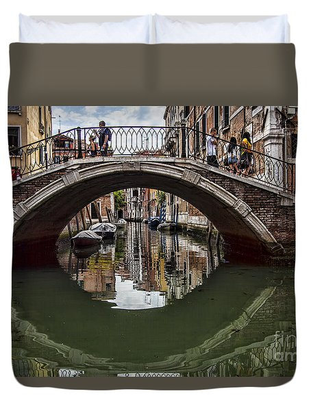 Duvet Cover featuring the photograph Venice by Shirley Mangini