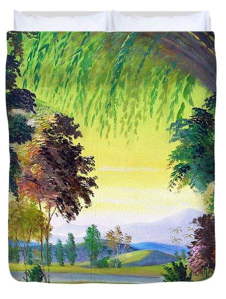 Verde Que Te Quero Verde Duvet Cover by Leomariano artist BRASIL