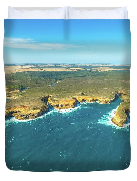 Victoria Scenic Flight Duvet Cover