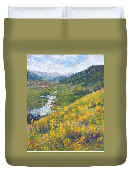 View From Baxters Gulch Duvet Cover